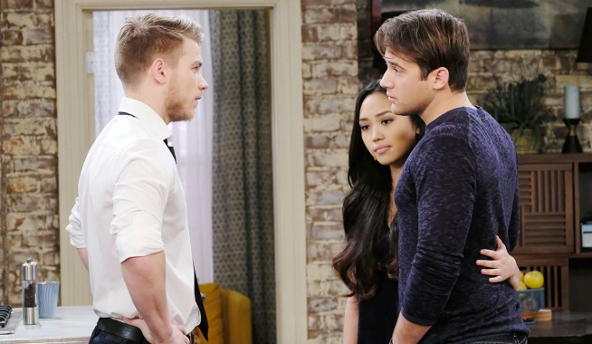 tripp, haley and jj loft friends days of our lives