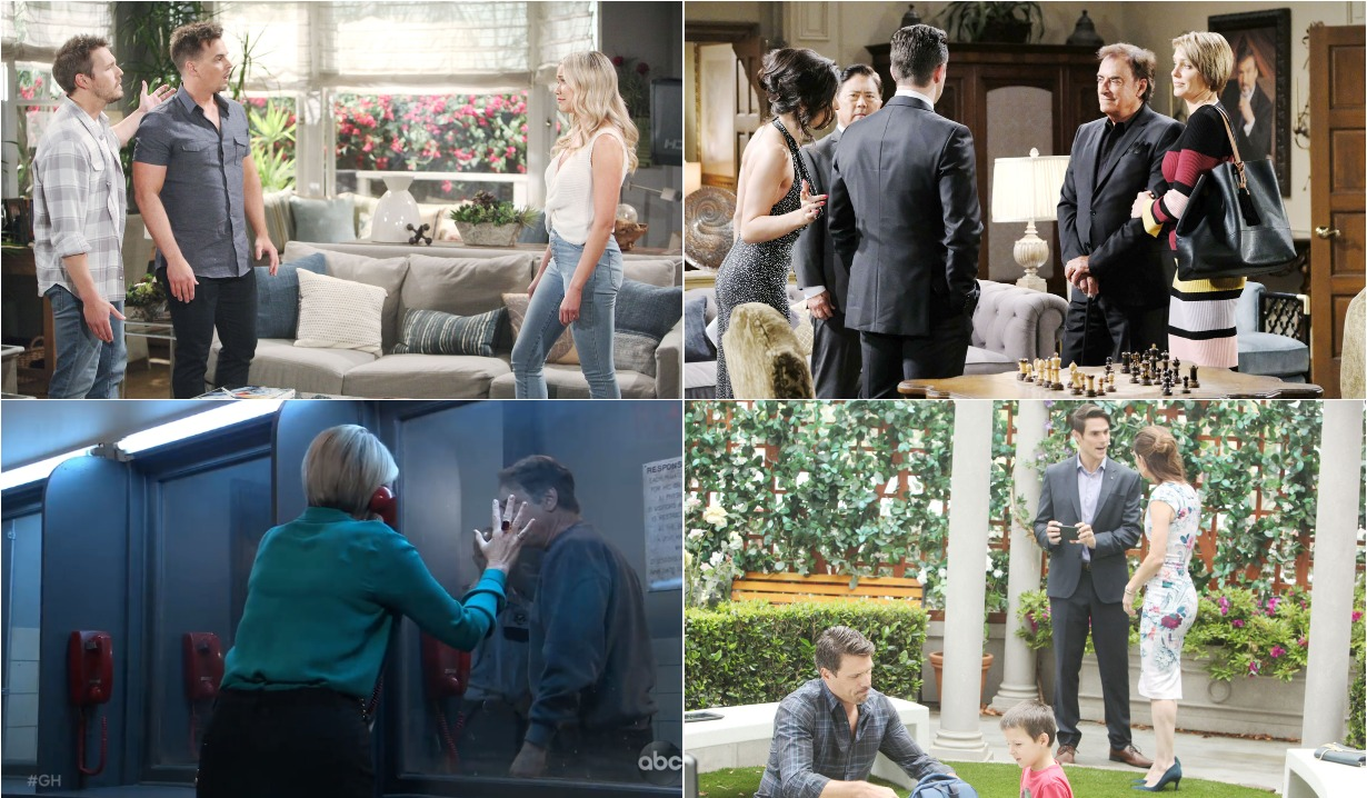 bold and beautiful days of our lives general hospital young and the restless roundup august 2