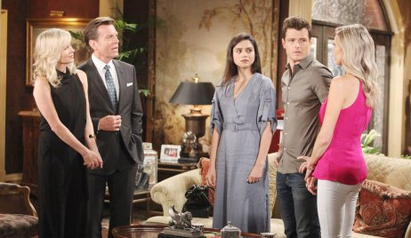 the abbotts with lola at mansion on young and restless