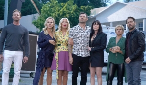 The cast is shocked by the stalker on BH90210
