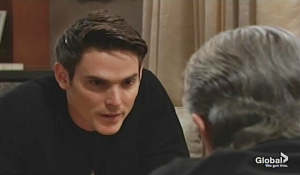 Adam spars with Victor Young and Restless