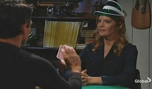 Billy Phyllis poker table Young and Restless