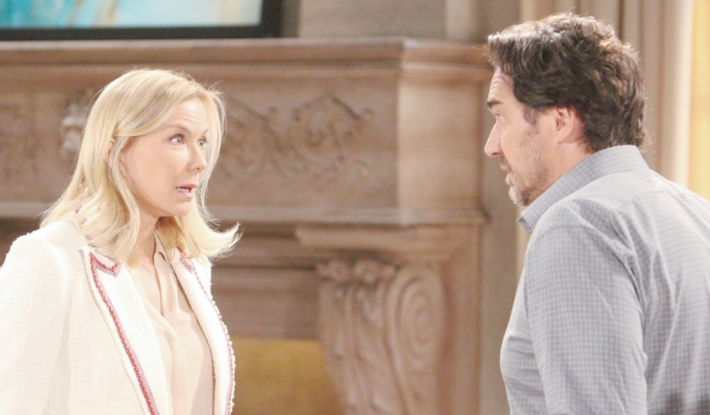 Brooke and Ridge at odds Bold and Beautiful