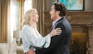 Brooke and Ridge discussion Bold and Beautiful
