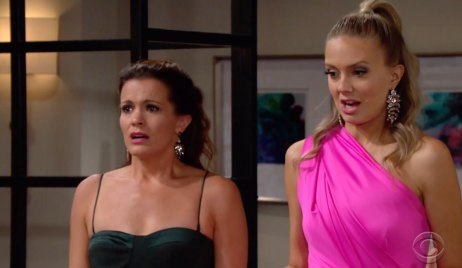 Chelsea and Abby are stunned on Young and the Restless