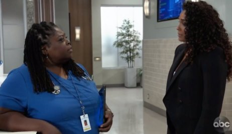 Epiphany and Jordan talk at General Hospital