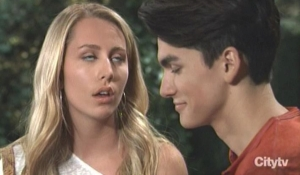 Joss rolss her eyes at Dev General Hospital
