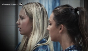 Joss and Kristina wait for news General Hospital