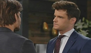Kyle glares at Theo Young and Restless