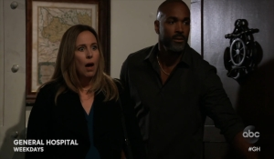 Laura and Curtis walk in on Lulu and Dustin General Hospital