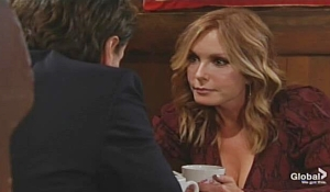 Michael and Lauren warning Young and Restless