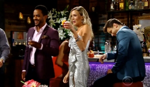 Nate, Abby and Kyle at opening party Young and Restless