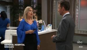 Nina talks Sasha's modeling to Valentin General Hospital