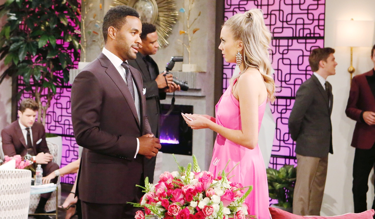 Nate and Abby at the opening Young and Restless