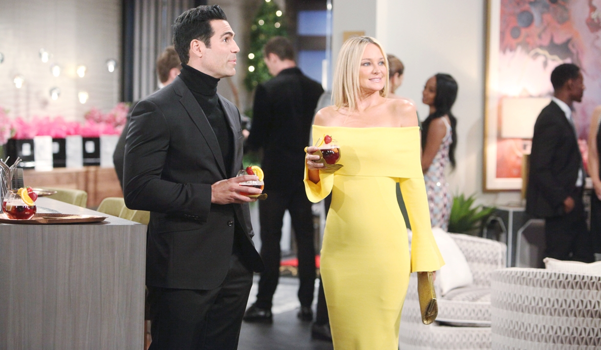 Rey and Sharon at the opening Young and Restless
