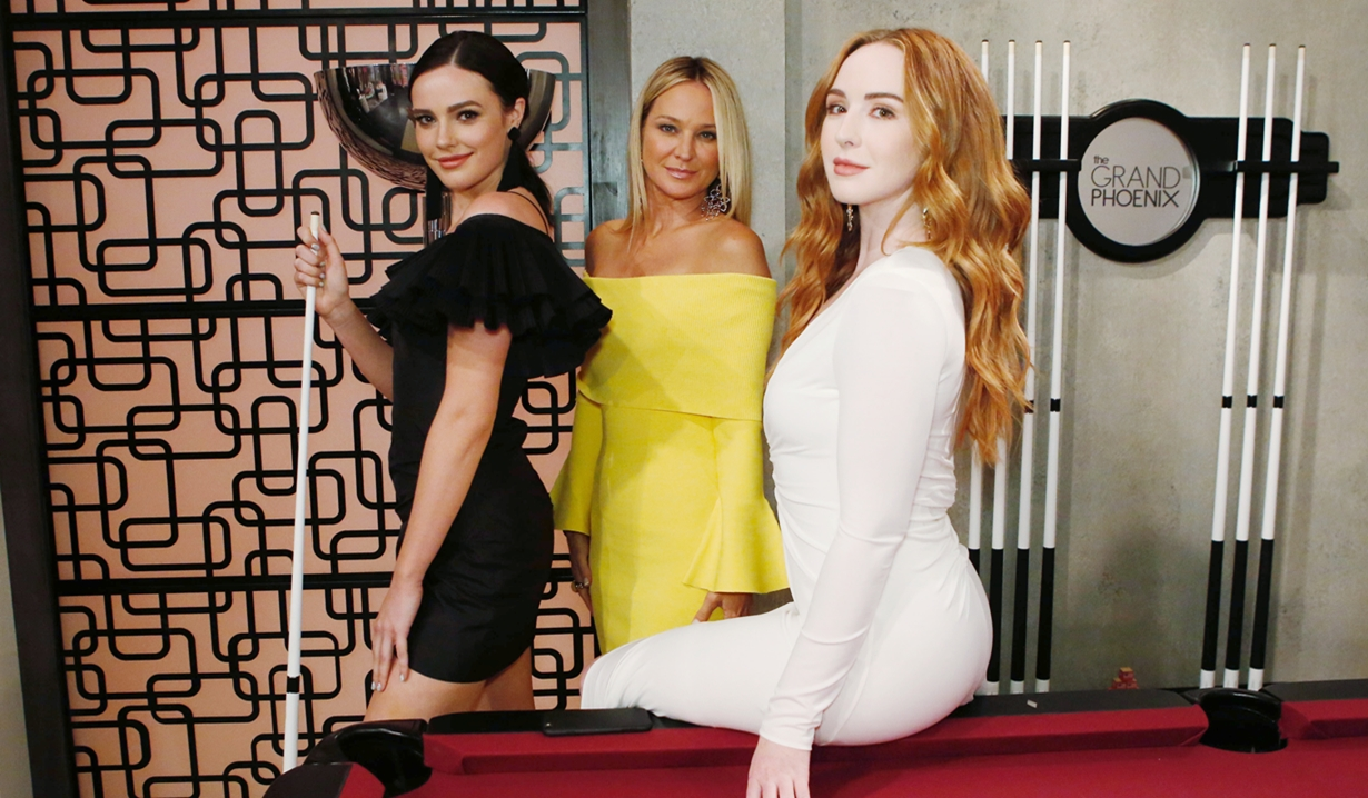 Tessa, Sharon and Mariah Young and Restless