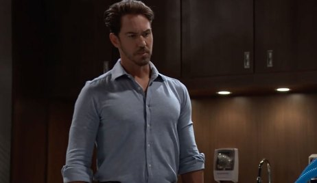 Peter hovers over Andre on General Hospital