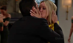 Rey and Sharon kiss Young and Restless