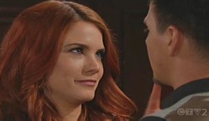 Sally teases Wyatt about kiss on Bold and Beautiful