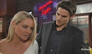 Sharon checked on by Adam Young and Restless