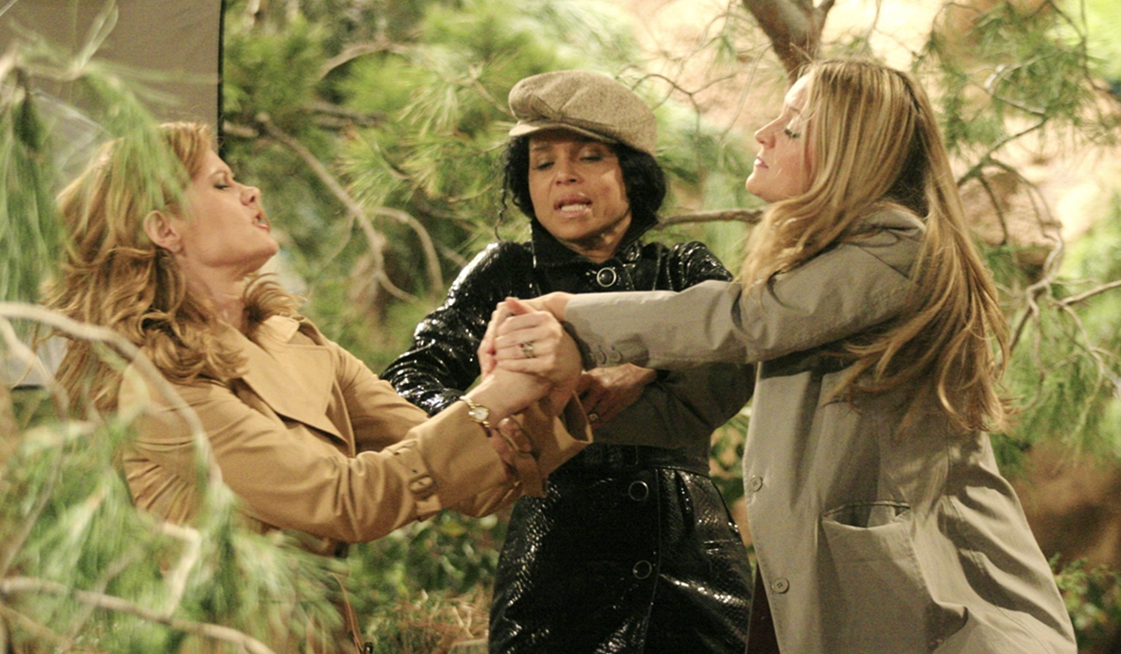 Sharon, Drucilla and Phyllis fight Young and Restless