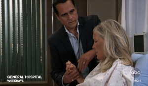 Sonny arrives as Carly goes into labor General Hospital
