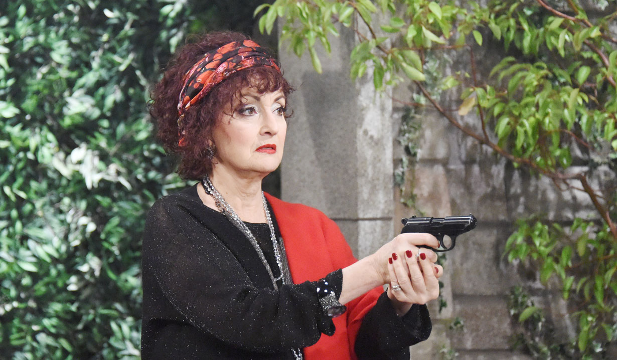 Vivian shoots a gun on Days of our Lives