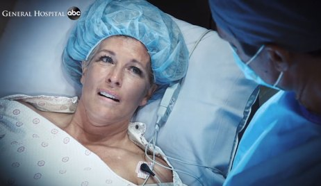 carly goes into premature labor on general hospital
