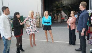 The cast gathers on the lot on BH90210