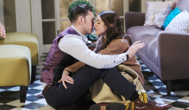 Chad & Abby make out in Paris Days of our Lives