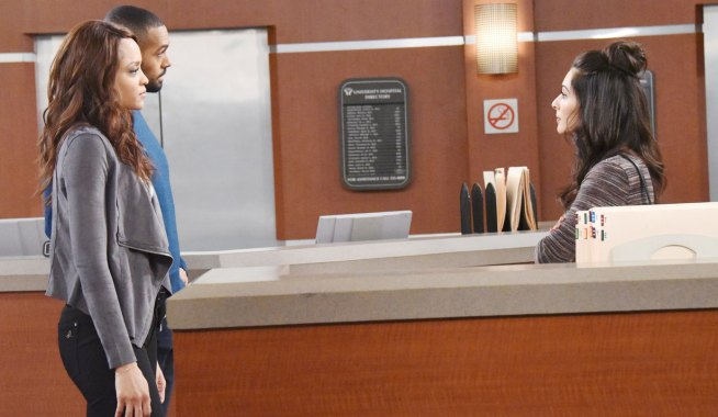 eli and lani talk to gabi at the hospital on days of our lives