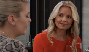 Felicia looks proudly at Maxie on General Hospital