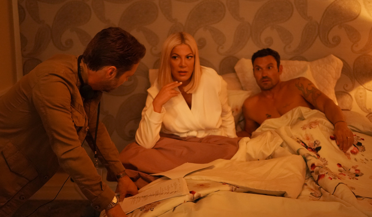 Jason directs Tori and Brian on BH90210