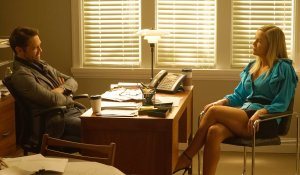 Jason and Jennie in his office on BH90210