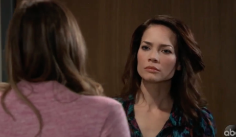 Elizabeth confronts Kim on General Hospital