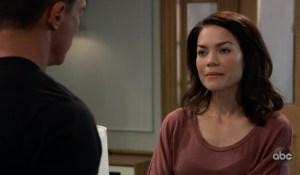 Liz talks about Franco with Jason on General Hospital