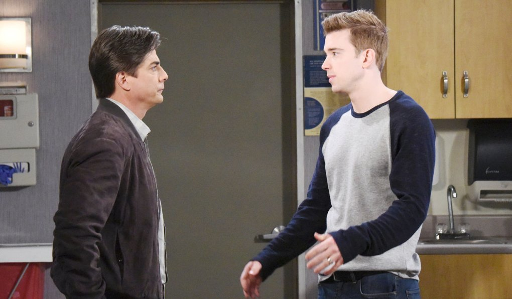 lucas talks to will at salem university hospital on days of our lives