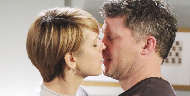 real nicole and eric kiss on days of our lives
