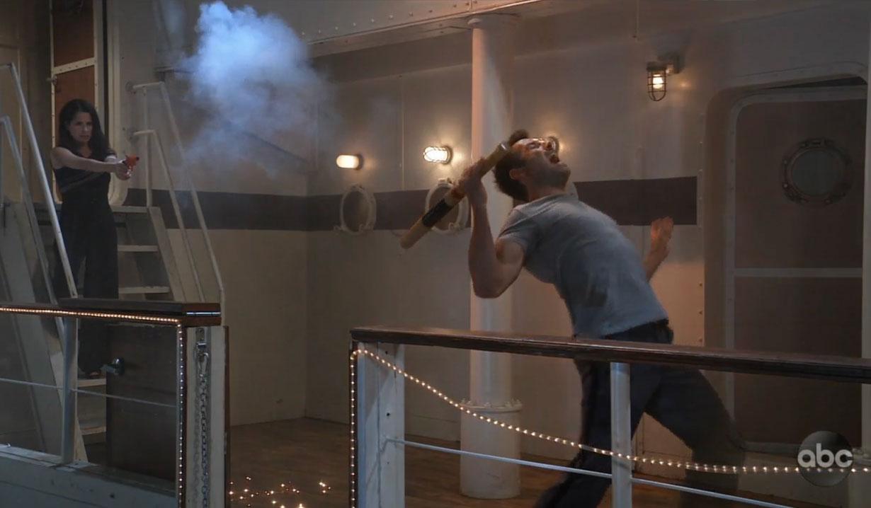 Sam shoots Shiloh on General Hospital