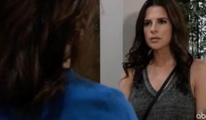 Sam and Liz argue over Drew on General Hospital