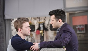 sonny and will look sad days of our lives