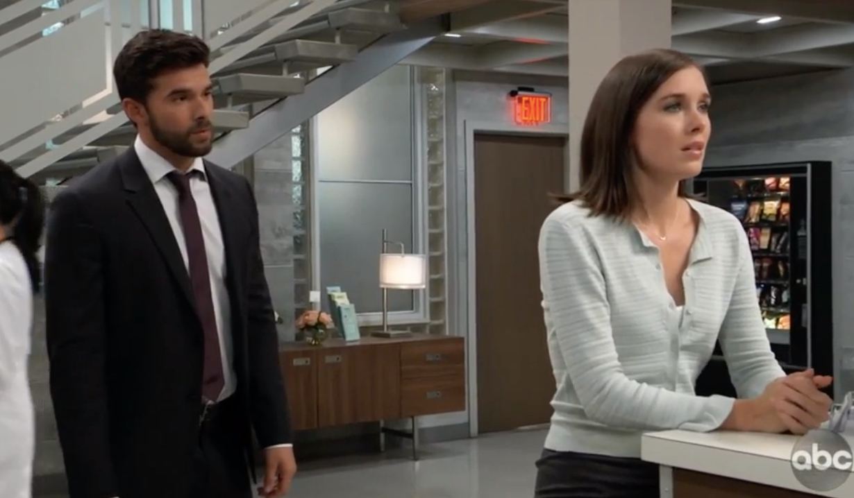 Willow worries to Chase about Wiley on General Hospital
