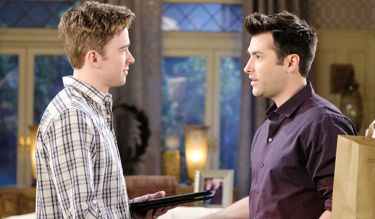 Will with Sonny at the mansion