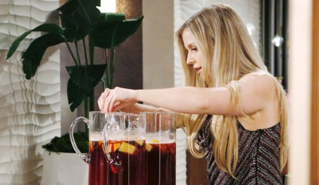 zoe spikes sangria at grand phoenix opening on young and restless