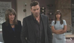 Amanda Jill and Cane tell Devon about will The Young and the Restless