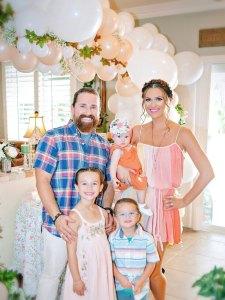 Bold and Beautiful alum Ashley Tesoro and her family
