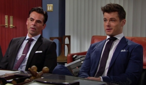 Billy Kyle office announcement Young and Restless