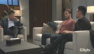 Brad and Lucas in therapy with Neil General Hospital