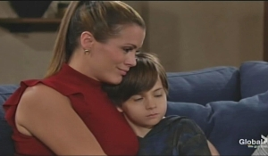 Chelsea hugs Connor Young and Restless