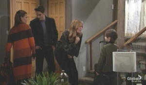 Chelsea drops Connor off with Adam and Phyllis The Young and the Restless